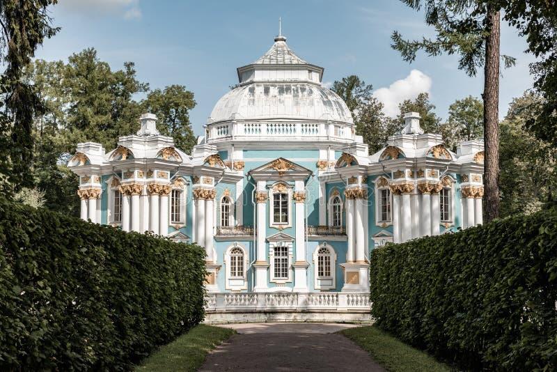 Ermita del pabellón en Tsarskoe Selo St Petersburg, Rusia fotografía de archivo libre de regalías