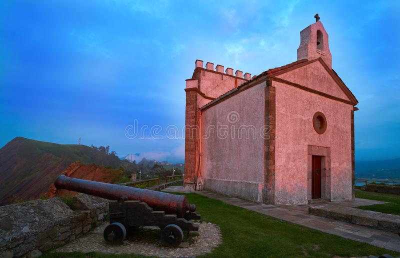 Ermita la Guia hermitage in Ribadesella Asturias. Of Spain royalty free stock photography