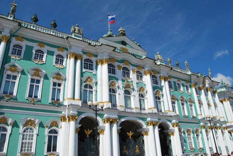 Ermitage - borne limite russe célèbre photos stock