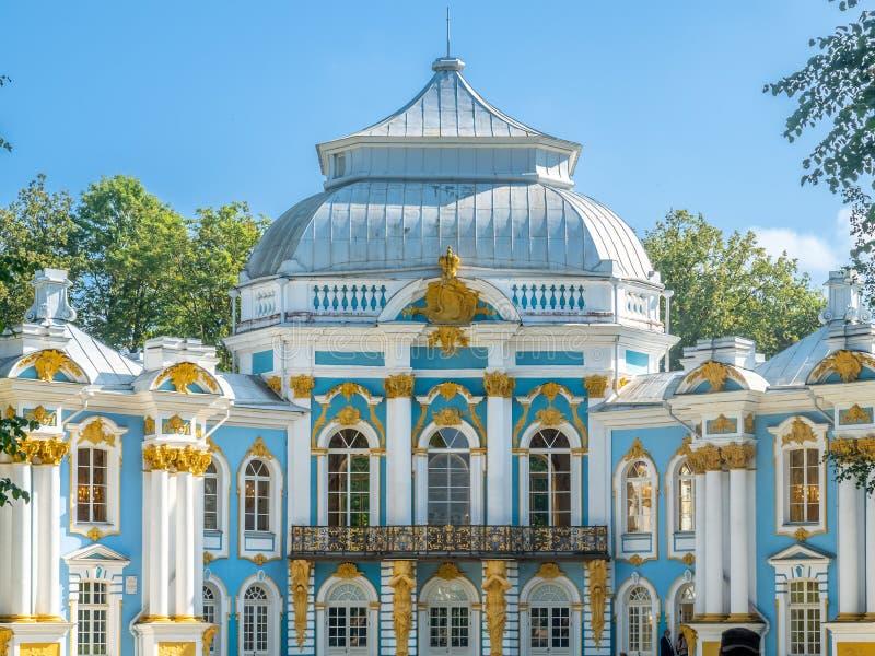 Ermitage de pavillon, jardin de Catherine, Russie photos stock