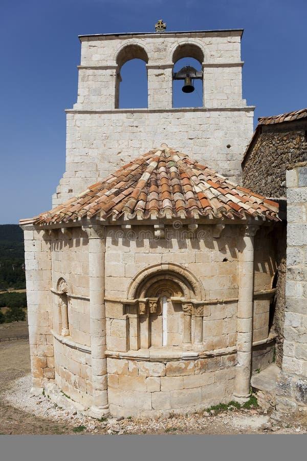 Ermitage, San Pantaleon de Losa fotografia stock
