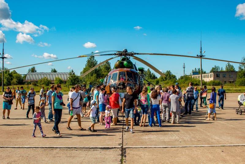 Ermolino, Rusland - Augustus 15, 2015: Open Dag bij de luchtmachtbasis in Ermolino royalty-vrije stock afbeeldingen