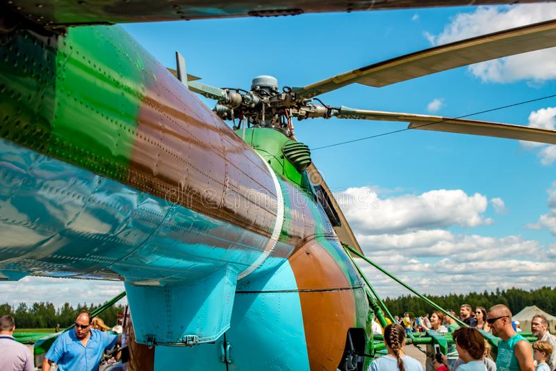 Ermolino, Rusland - Augustus 15, 2015: Open Dag bij de luchtmachtbasis in Ermolino royalty-vrije stock foto
