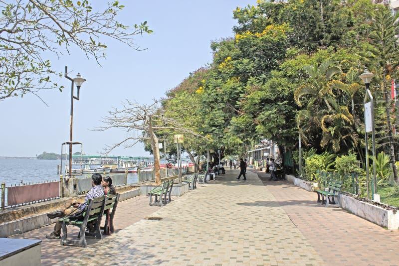 Ernakulam堤防 图库摄影