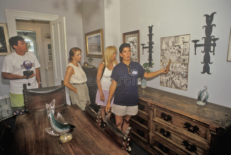 The Ernest Hemingway Home and Museum, Key West, Florida stock images