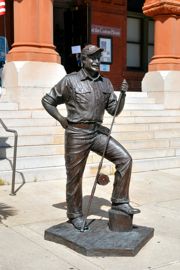 Ernest Hemmingway Statue fotos de archivo libres de regalías