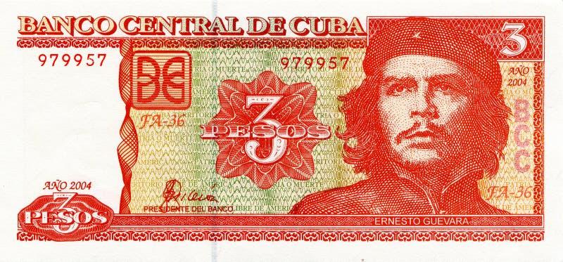 Ernesto Che Guevara auf einer Banknote von Kuba stockfotografie