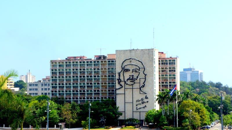 Ernesto Che Guevara. Departementbyggnad. Havana. arkivfoton
