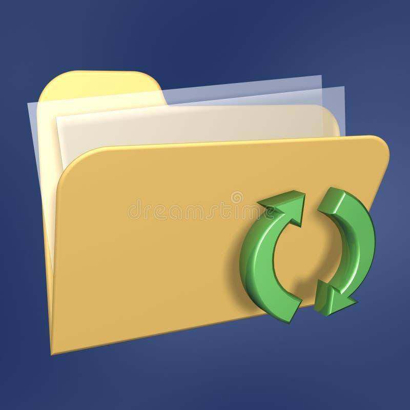 Erneuern Sie Dateifaltblatt lizenzfreie abbildung