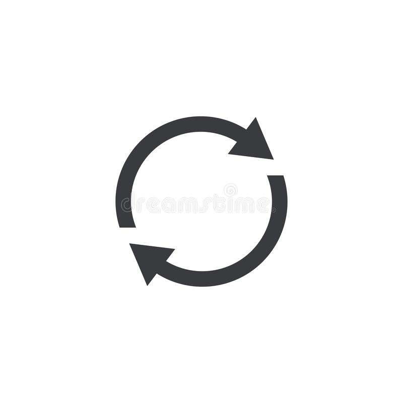 Erneuern Sie Ikone Vektorformwiederanlaufs-Schnittstellenknopf Element für beweglichen App oder Website des Entwurfs lizenzfreie abbildung