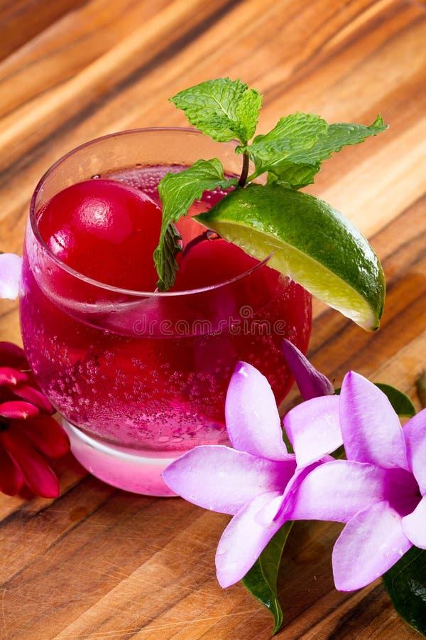 Download Erneuerndes Tropisches Cocktail Mit Frischen Blumen Stockfoto - Bild von schön, bildschirmanzeige: 96925656