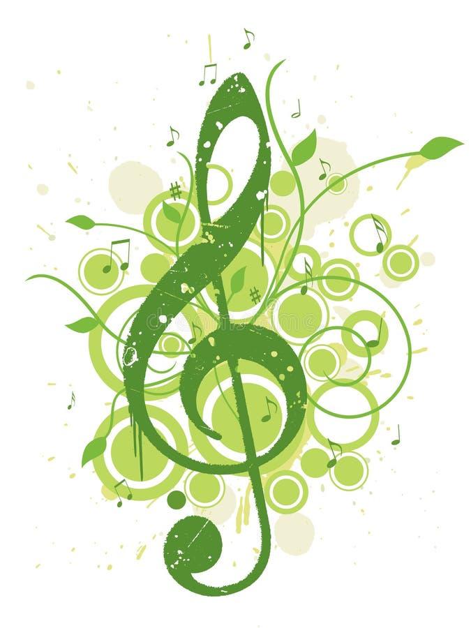Erneuernfrühlings-Musik-Hintergrund lizenzfreie abbildung