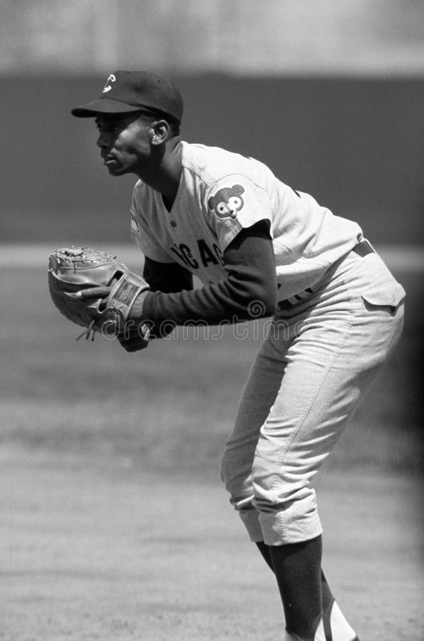 Ernie Banks der Chicago Cubs stockfotografie