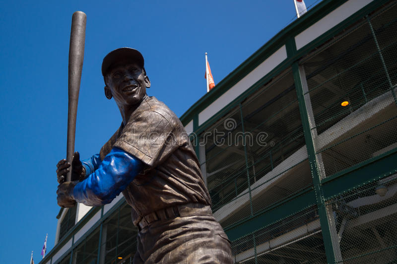 Ernie Banks Statue fotografia stock libera da diritti