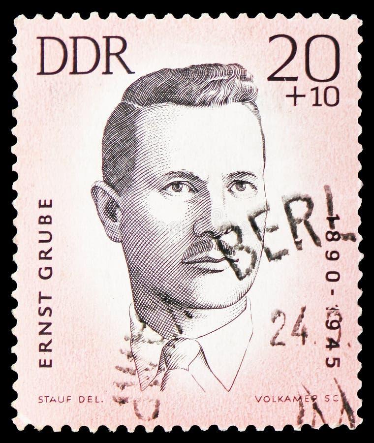 Ernst Grube, ermordetes Anti-faschistisches Athleten serie, circa 1963 stockbilder