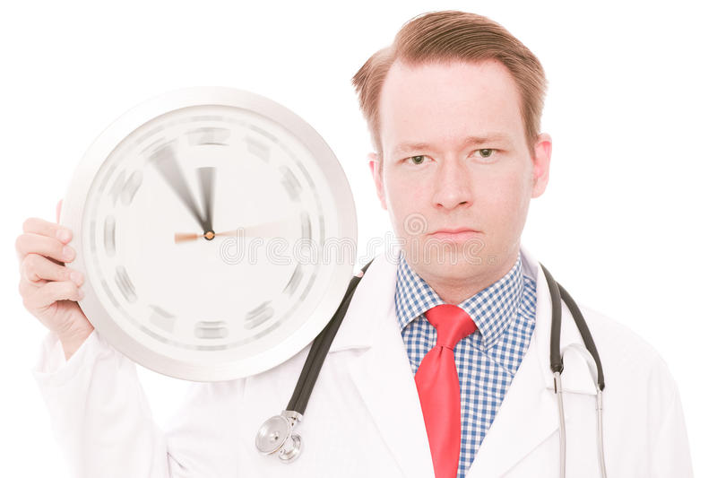 Ernste medizinische Zeit (spinnende Uhrzeigerversion) lizenzfreie stockfotos