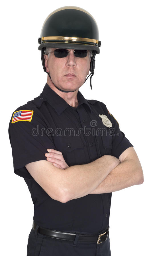 Ernste Motorrad-Bulle, Polizei, Polizist, Sheriff stockfotos