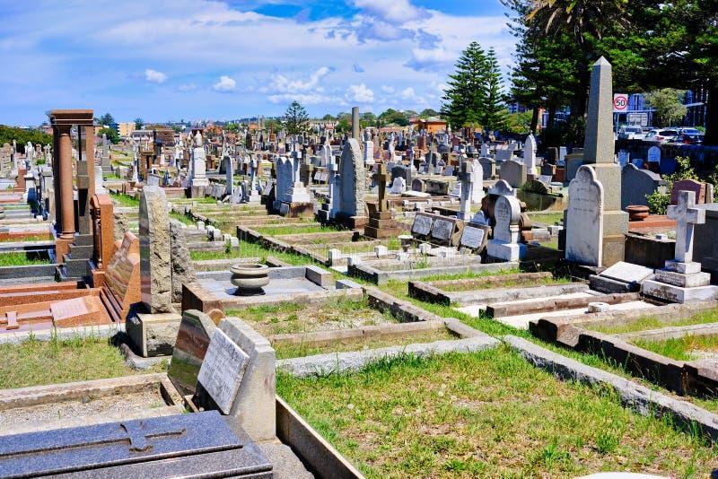Ernste Steine im alten Kirchhof, Sydney, Australien lizenzfreie stockfotos