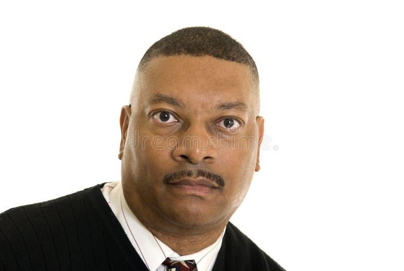Ernster Afroamerikanermann lizenzfreie stockbilder