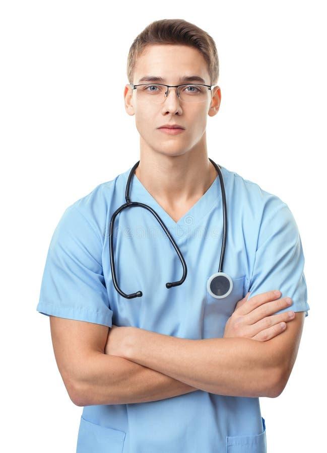 Ernster junger Doktor lizenzfreies stockbild