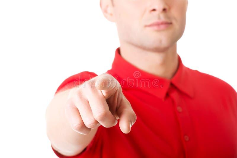 Download Ernster Junger Mann, Der Sie Zeigt Stockbild - Bild von wählen, kerl: 47100955