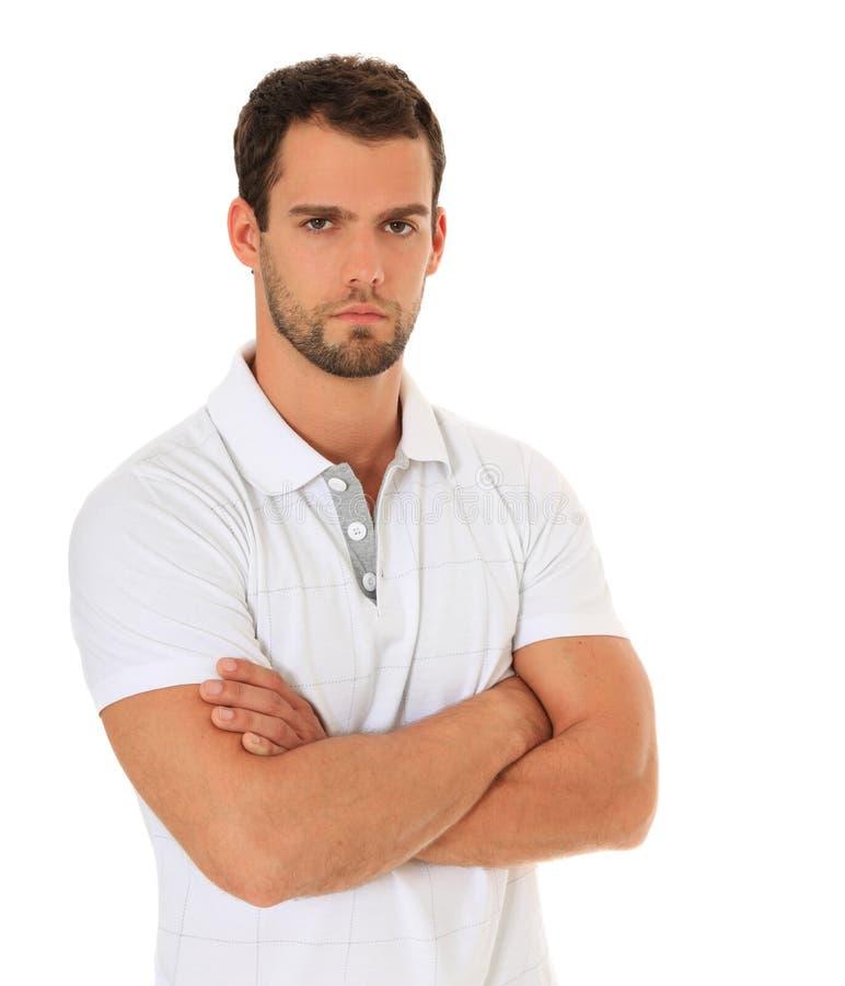 Ernster schauender junger Mann lizenzfreies stockbild