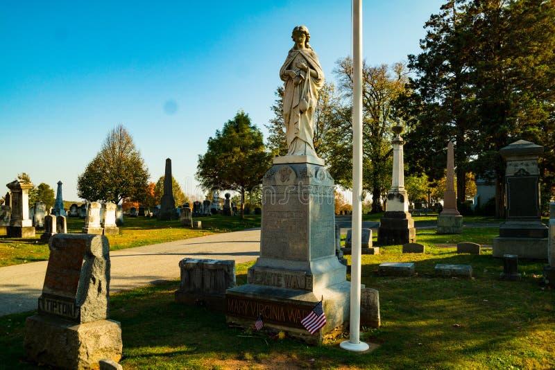 Ernstes Monument von Jennie Wade stockbilder