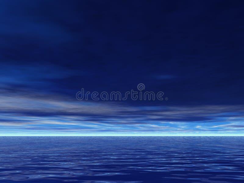 Ernsthaft blaue Meere lizenzfreie abbildung