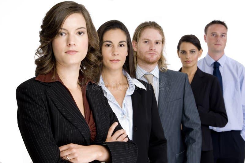 Ernstig Commercieel Team royalty-vrije stock foto