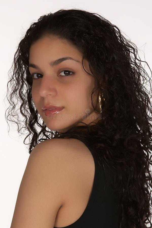 Ernstig Jong Latina Headshot stock fotografie