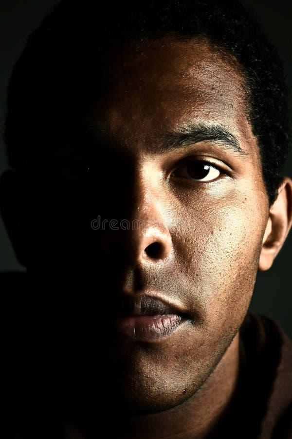 Ernstig Mannelijk Portret stock foto's