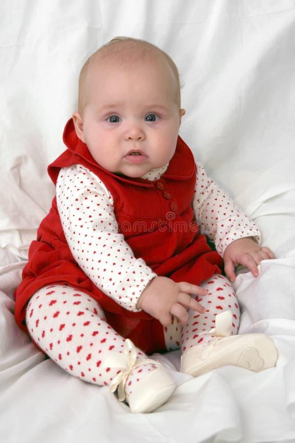 Ernstige baby royalty-vrije stock afbeelding