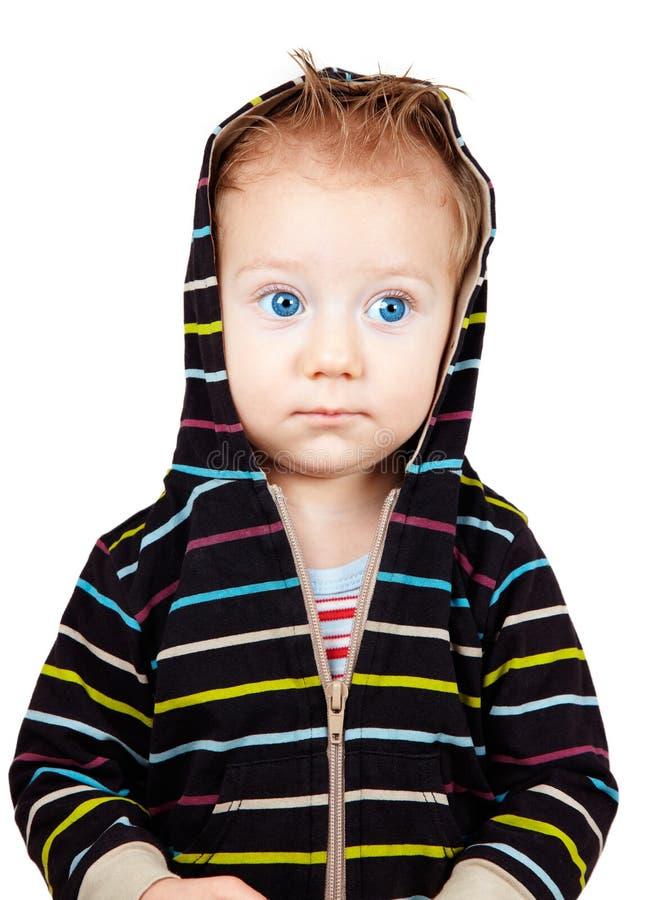 Ernstige babyjongen royalty-vrije stock fotografie