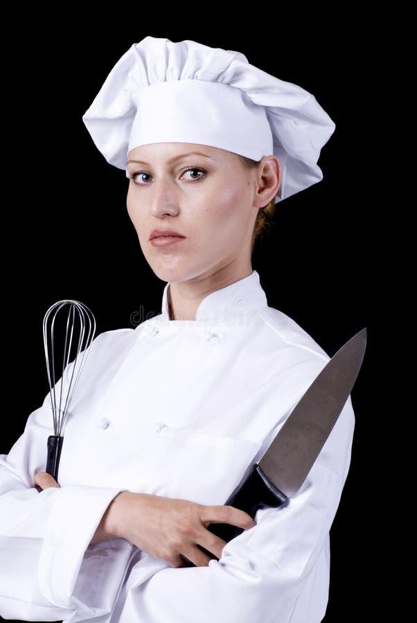Ernstige Chef-kok stock afbeelding