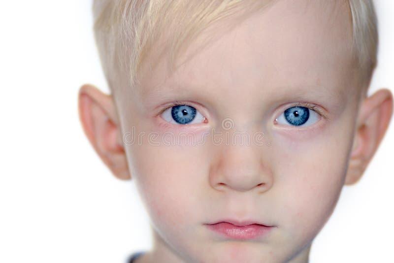 Ernstige jongen stock foto