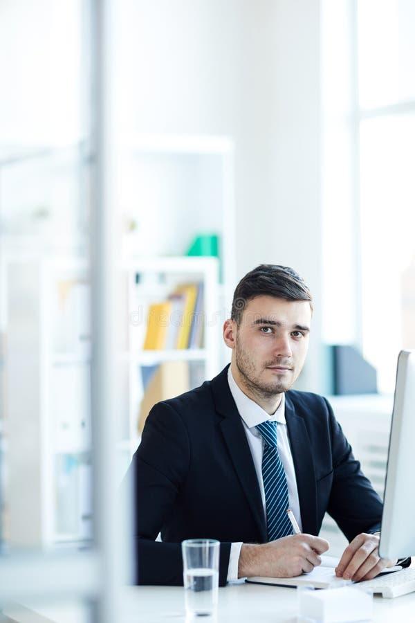 Ernstige manager stock foto
