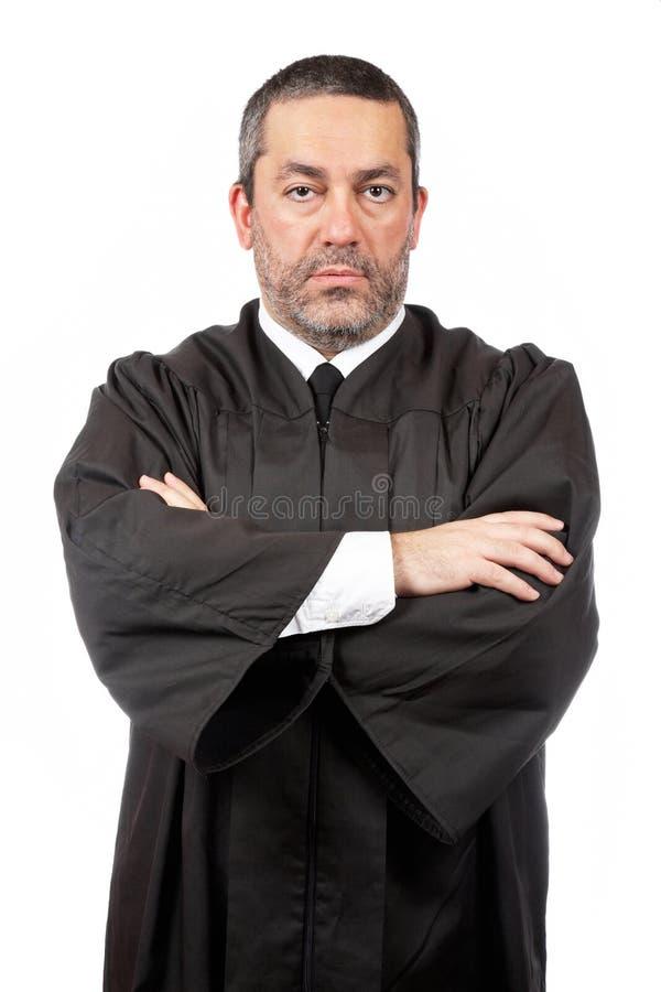Ernstige mannelijke rechter stock fotografie