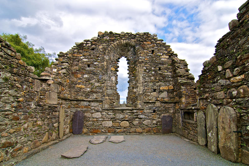 Ernstige plaats in Glendalough royalty-vrije stock foto