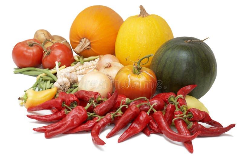 Ernte. Frisches reifes Gemüse stockbild
