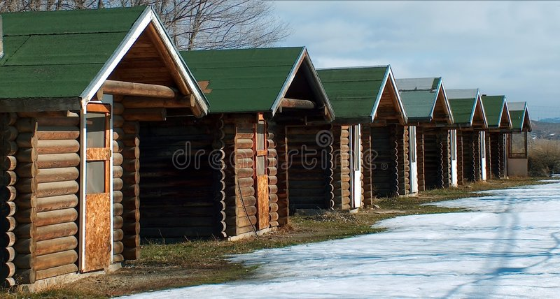 Ernte-Häuser stockbilder