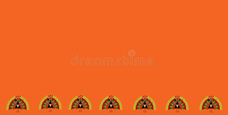 Erntedankfest-Hintergrund mit Truthähnen stockfotos