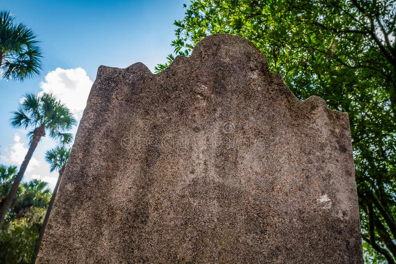 Eroded blank headstone royalty free stock images