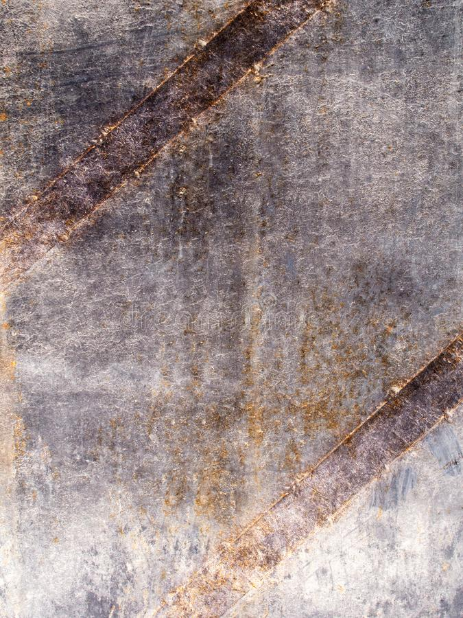 Rust metal texture with stitches stock image