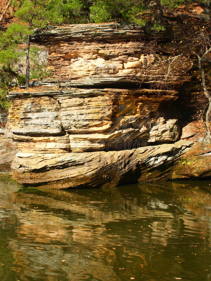 Eroded Reflection Royalty Free Stock Photography