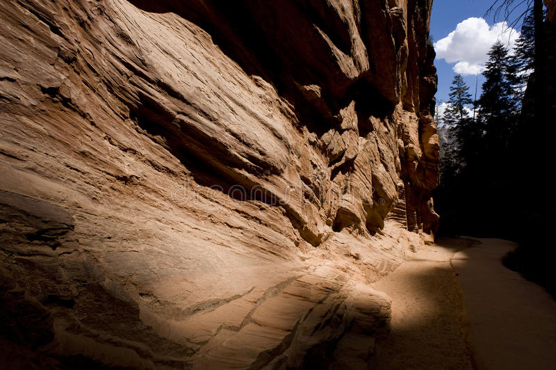 Eroded rock formation stock photos