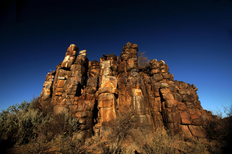 Eroded rock formation. Near Williston, Great Karoo, South Africa stock photography