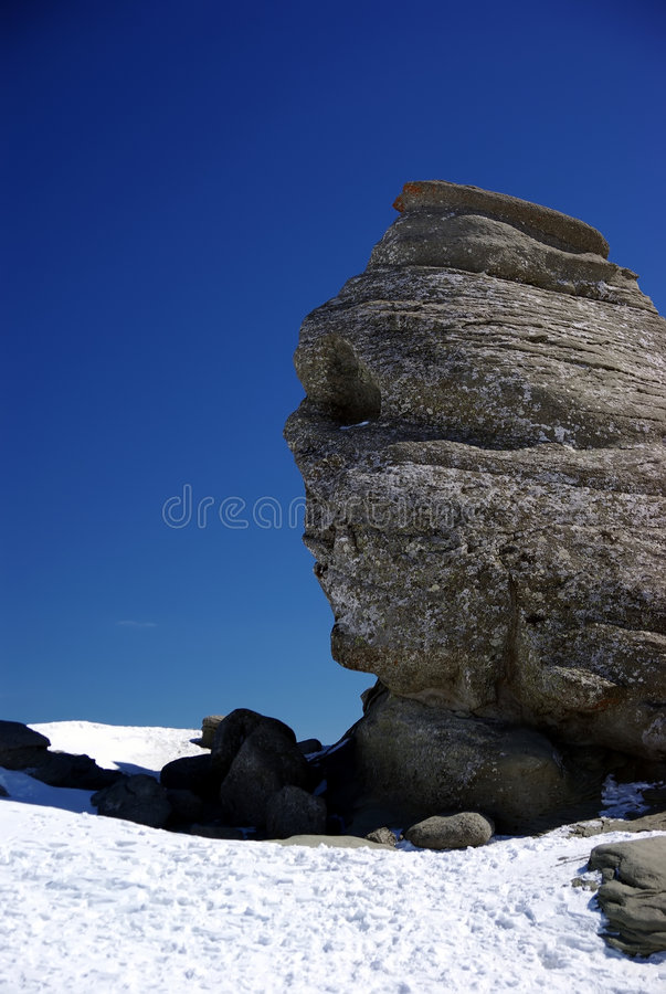 Eroded stone. Created by nature (eroded) in Bucegi mountain, Romania royalty free stock images