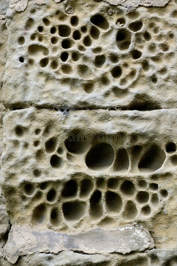 Eroded Stone Wall Royalty Free Stock Photography