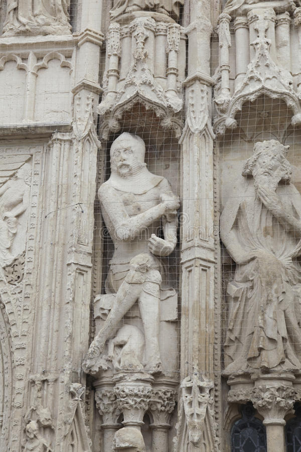 Download Eroded Stonework Sculptures. Exeter Cathedral Stock Image - Image: 16184081