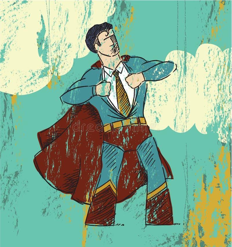 Eroe dell'ufficio royalty illustrazione gratis